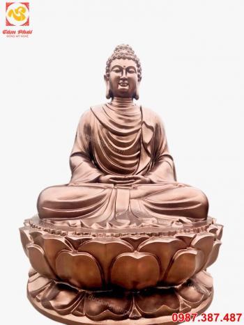 Tượng Phật A Di Đà bằng đồng cao 1m5