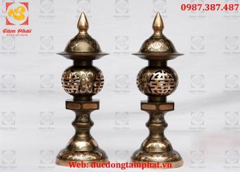 Đèn thờ, đèn thờ bằng đồng cao 45cm