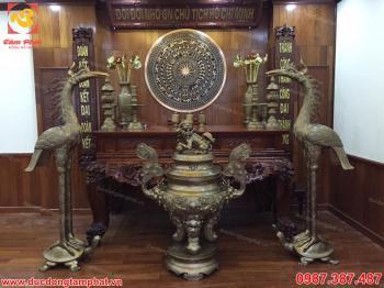 Hạc thờ bằng đồng cho phòng thờ lớn