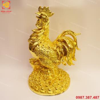 Gà đồng mạ vàng 24k