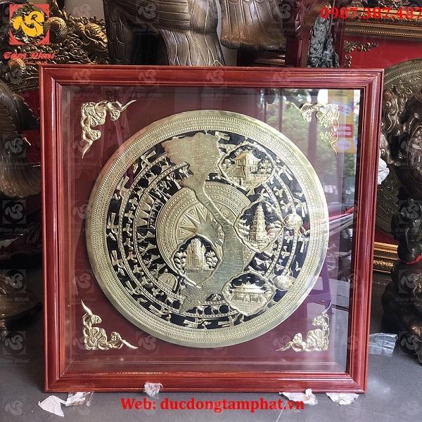 Mặt Trống Đồng Bản Đồ Việt Nam Đường Kính 60cm
