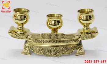 Ngai chén đồng vàng đúc máy
