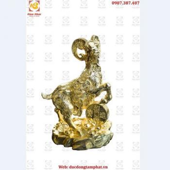 Tượng Dê Phong Thủy Mạ Vàng 24k