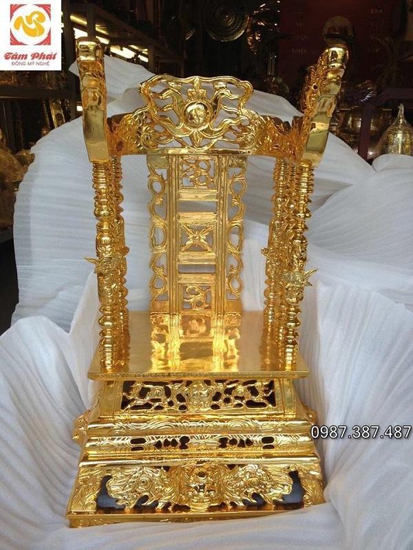 Ngai thờ bằng đồng mạ vàng 24k