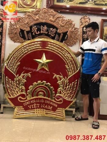 Quốc huy bằng đồng đường kính 1m5