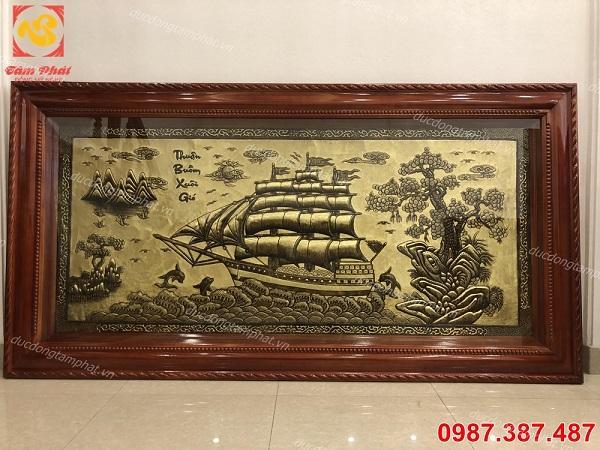 Tranh đồng Thuận Buồm Xuôi Gió 2m3 đẹp tinh xảo