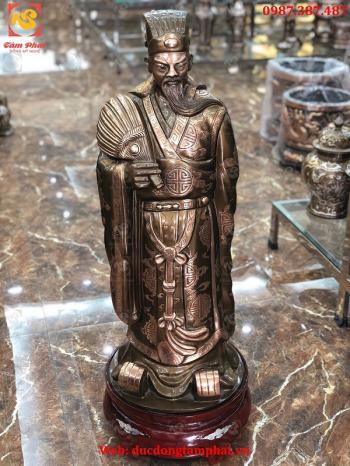 Tượng Khổng Minh Cao 70cm Bằng Đồng Đỏ