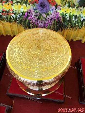 Trống đồng quà tặng làm từ đồng vàng nguyên chất