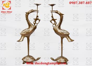 Hạc thờ bằng đồng, đôi hạc thờ bằng đồng cao 50 cm