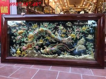 Tranh Vinh Hoa Phú Quý 2m3 khung gỗ gụ tuyệt đẹp bàn giao cho khách hàng Tây Ninh