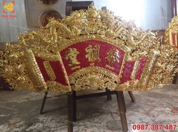 Hoành phi bằng đồng mạ vàng, đại tự Phụng Tổ Đường