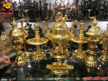 Đồ thờ cúng thếp vàng 9999 hình thức đẹp mắt, sắc màu rực rỡ
