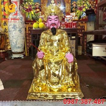 Đúc tượng Vua bằng đồng thếp vàng 9999 đặt tại đền miếu.!!!