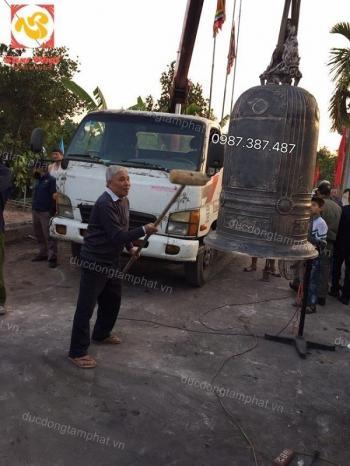 Đúc chuông đồng cao 1m7 nặng 350kg tại Vũ Thư - Thái Bình