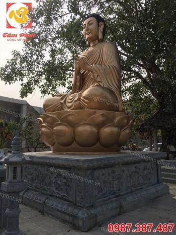 Đúc Tượng Phật Adida cao 5m tại chùa Phổ Nghiêm Đông Anh Hà Nội