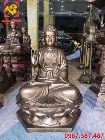 Tượng Phật Adida cao 1m đồng đỏ tuyệt đẹp, có hồn.!!