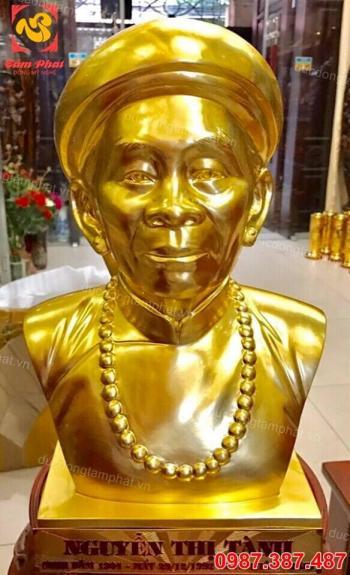 Tượng truyền thần ông bà cao 60cm thếp vàng 9999
