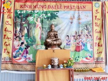Đúc tượng Phật bằng đồng cao 1m2 bàn giao cho chùa.!!