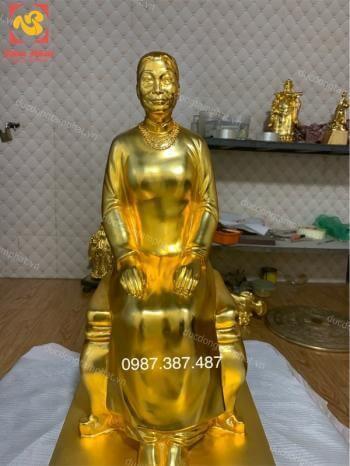 Tượng chân dung, tượng truyền thần cao 60cm mạ vàng 24k