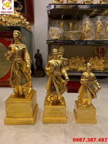 Tượng Trần Hưng Đạo mạ vàng 24k đủ kích thước, mẫu chuẩn quốc gia..!