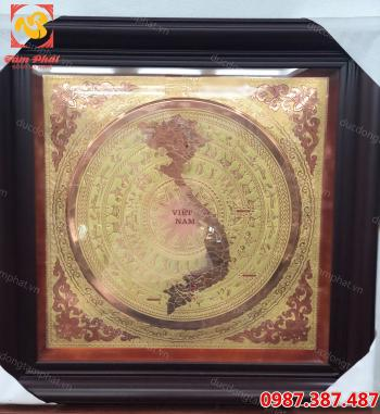 Mặt trống đồng, tranh mặt trống đồng vuông 80 cm