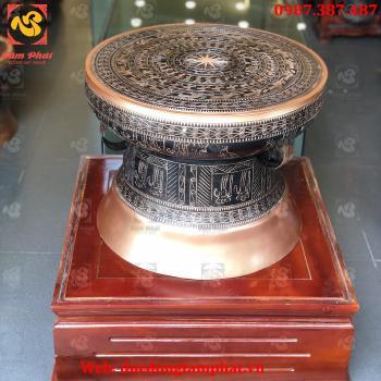 Trống đồng, quả trống đồng đỏ đường kính 50 cm