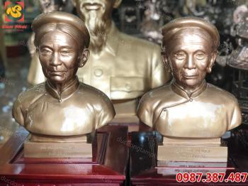 Tượng chân dung, tượng đồng chân dung cao 42 cm