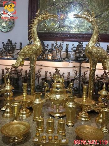 Nơi thếp vàng 9999 đồ thờ bằng đồng uy tín, chất lượng, giá xưởng..!
