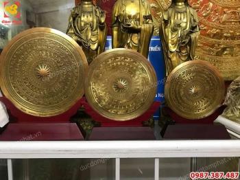 Mặt trống đồng quà tặng treo tường, để bàn làm việc cực tinh xảo, đủ kích thước..!
