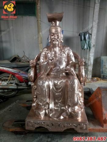 Đúc tượng đồng vua cha Ngọc Hoàng cao 1m2 tuyệt đẹp..!