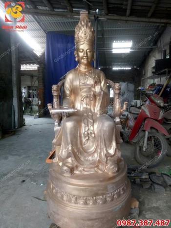 Tượng đồng Mẫu Cửu Trùng Thiên cao 1m5 cho đền..!