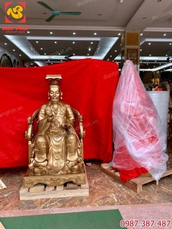 Đúc tượng đồng Ngọc Hoàng cao 1m5 vận chuyển vào đền Kiên Giang