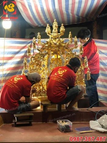 Nơi đúc toà Cửu Long bằng đồng thếp vàng tại chân công trình đình chùa miếu mạo...!