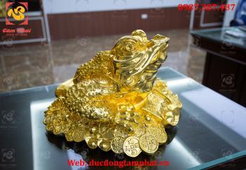 Cóc đồng, cóc bằng đồng mạ vàng 24k