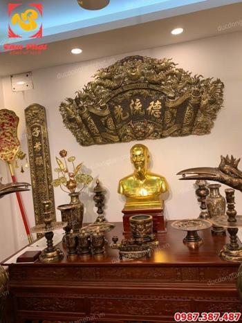 Vinh Dự được Giám đốc công an tỉnh Sóc Trăng đến lựa chọn phòng thờ Bác Hồ bằng đồng cho trụ sở..!