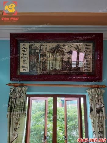 Bức tranh đồng ghi nhớ công lao cha mẹ chuyển thể bên bức tranh Vinh Quy Bái Tổ tuyệt đẹp..!