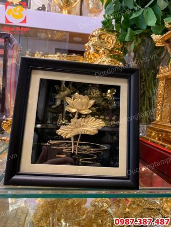 Bộ sưu tập tranh hoa sen bằng đồng - quà tặng đẹp và trang nhã