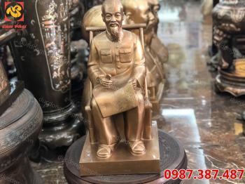 Tượng Bác Hồ, tượng Bác Hồ ngồi đọc báo cao 60 cm