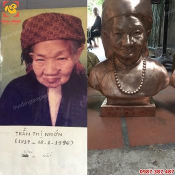 Đúc tượng chân dung, tượng truyền thần cao 42cm giống như ảnh 99%.!!