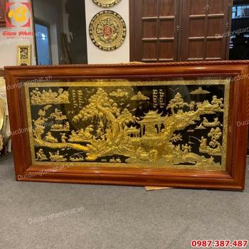 Tranh đồng quê mạ vàng tinh xảo kích thước 2m3 x 1m2 giá xưởng..!