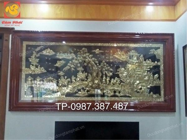 Tranh đồng Vinh Quy Bái Tổ giá rẻ, lắp đặt tranh đồng 2m55 x 1m255 anh Tuyên