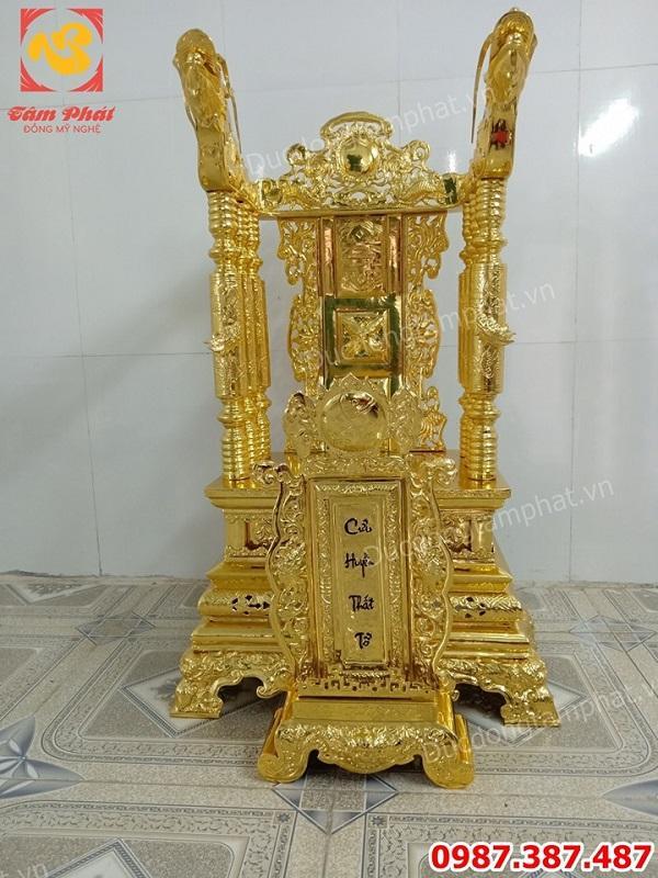 Ngai thờ bằng đồng mạ vàng 24k và bài vị bằng đồng giá xưởng..!