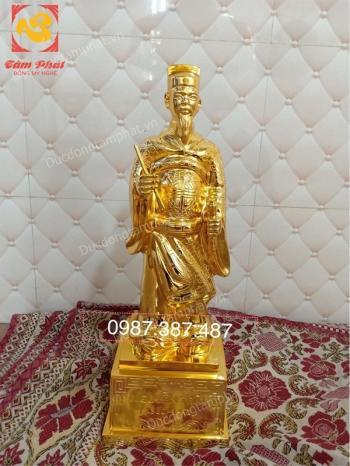 Tượng Nguyễn Trãi bằng đồng mạ vàng 24k cao 50cm