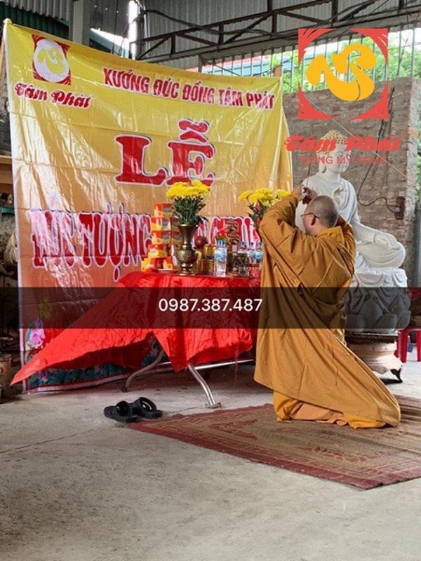 Quy trình đúc tượng Phật và làm lễ đúc tượng Phật Thích Ca tại xưởng.!