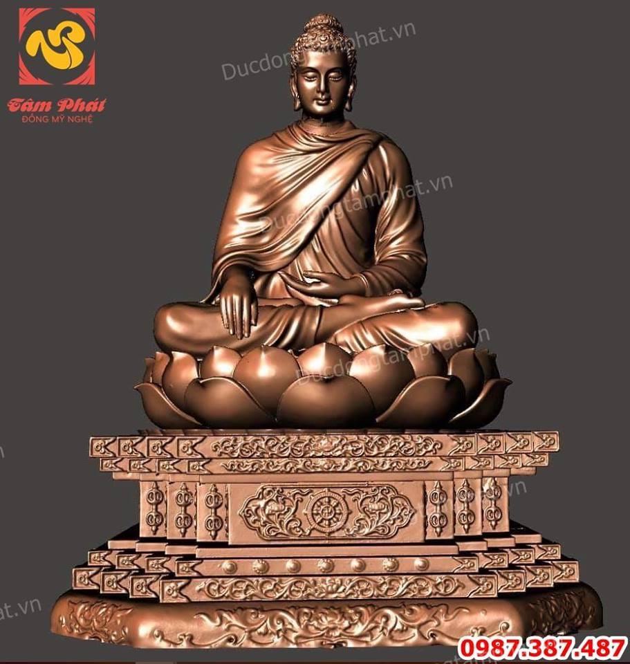 Đúc tượng Phật Thích Ca bằng đồng cao 3m6 tuyệt đẹp..!