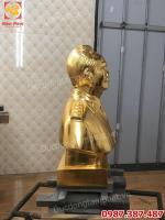 Tượng đồng Đại tướng Võ Nguyên Giáp cao 48cm dát vàng cho công an Quảng Bình