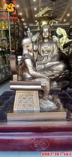 Tượng Vua Hùng, Quốc tổ Hùng Vương cao 60cm đồng đỏ tuyệt đẹp..!