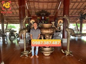 Lư hương đồng cao 1m5, hạc đồng cao 1m97 bàn giao nhà thờ Cần Giờ - Hồ Chí Minh
