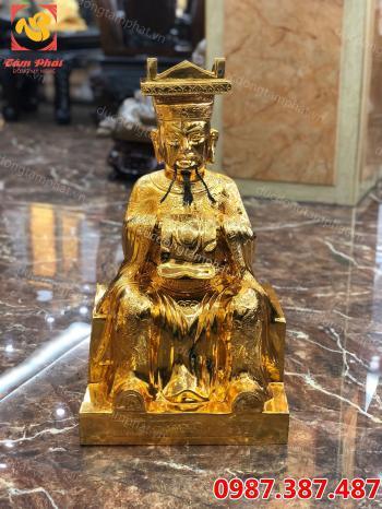 Ngọc hoàng thượng đế, tượng Ngọc Hoàng Thượng Đế bằng đồng mạ vàng 24k