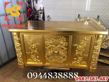 Dát vàng 9999 trên Ghế Gỗ - Bàn Gỗ.! Nhận dát vàng trên đồ gỗ.!